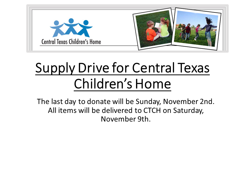 Supply Drive for Central Texas Children's Home2