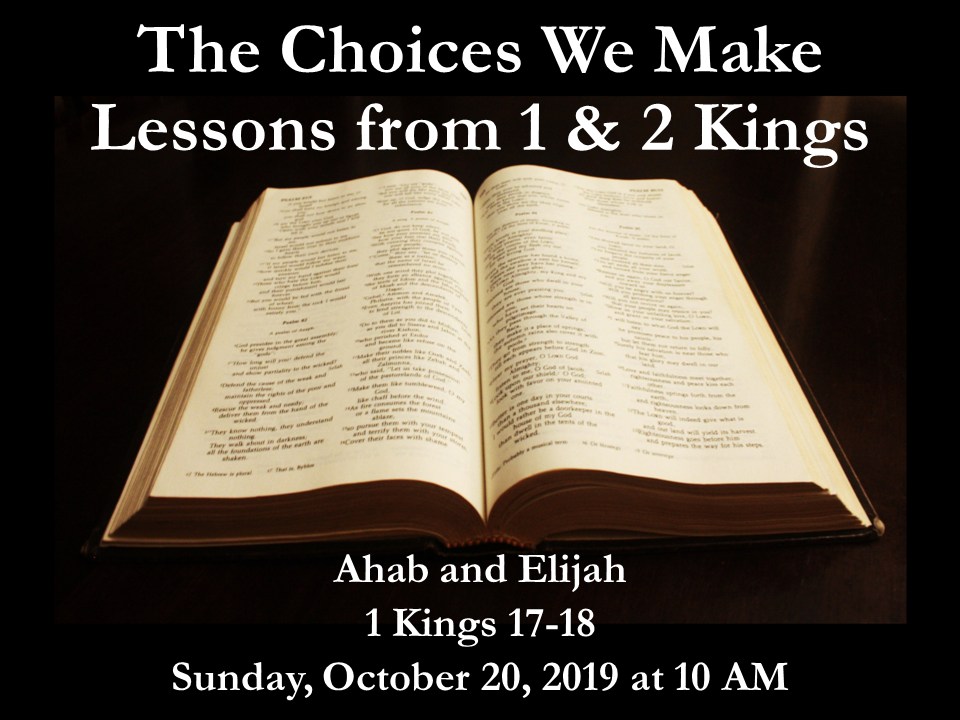Choices Lesson 11 Ahab and Elijah